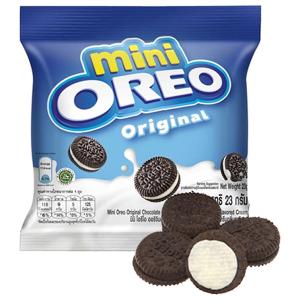 Bánh quy socola nhân kem vani Oreo Mini gói 23g