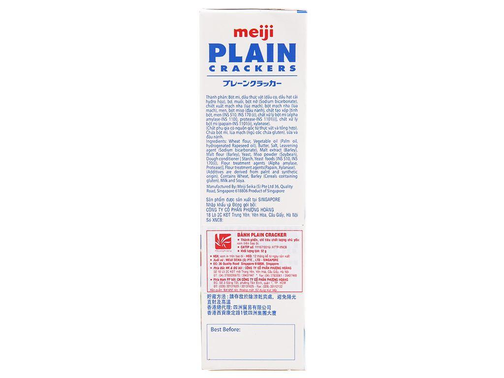 Bánh Plain Cracker Meiji hộp 52g 2