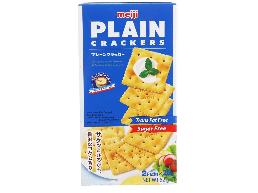 Bánh Plain Cracker Meiji hộp 52g 1