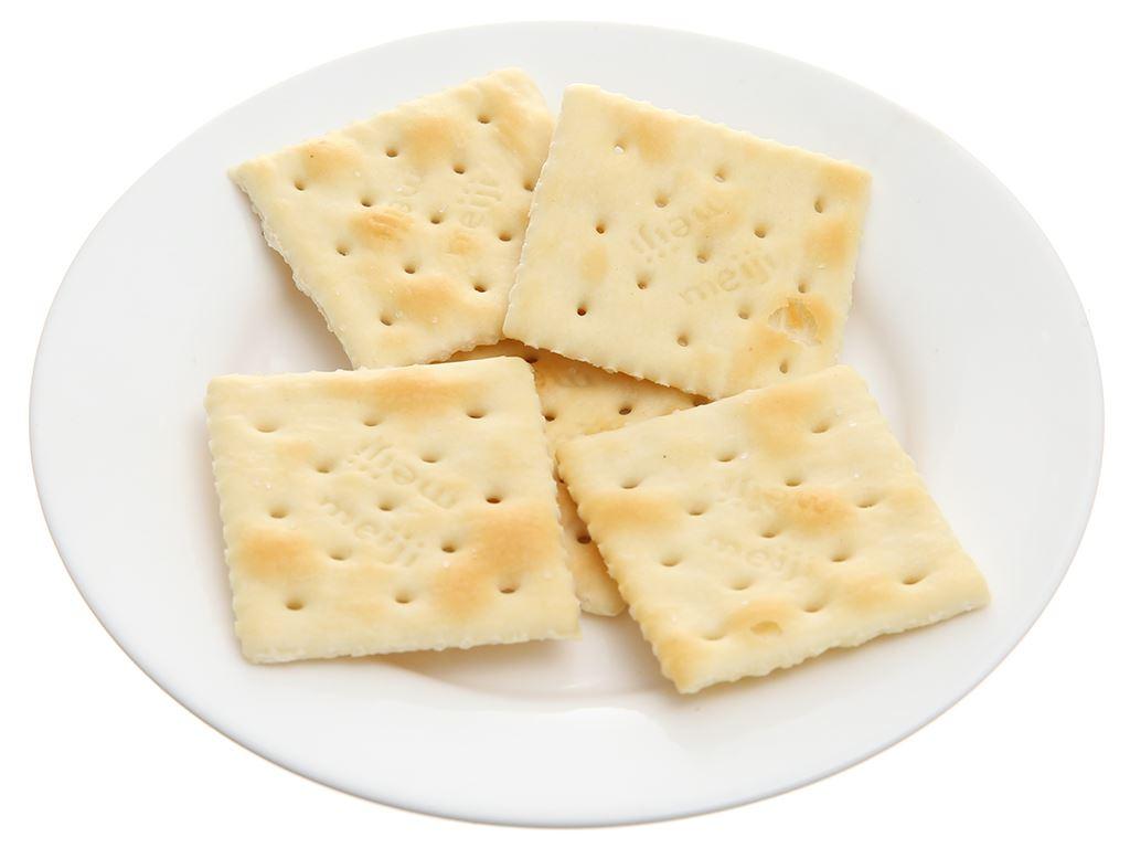 Bánh quy mặn bơ Meiji Plain hộp 52g 4