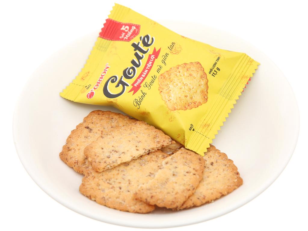 Bánh quy mè Gouté hộp 66.6g 4