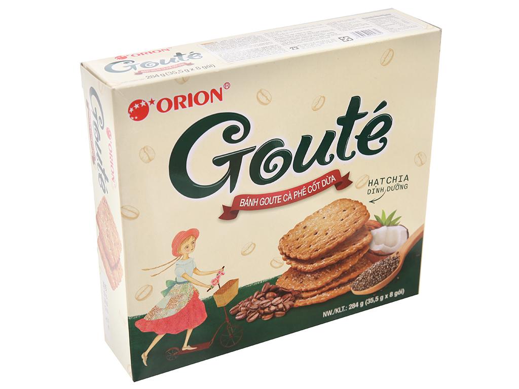 Bánh quy cà phê cốt dừa Gouté hộp 284g 1