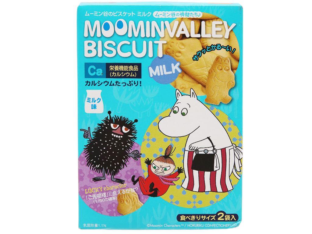 Bánh quy sữa Hokka Moominvalley hộp 90g 2