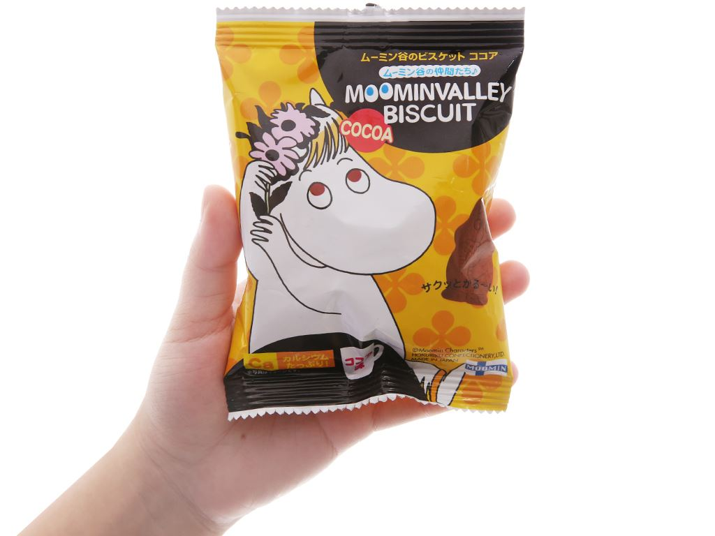 Bánh quy cacao Hokka Moominvalley Biscuit gói 20g 5