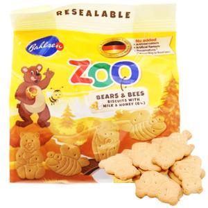 Bánh quy hình thú sữa và mật ong Bahlsen Zoo gói 100g
