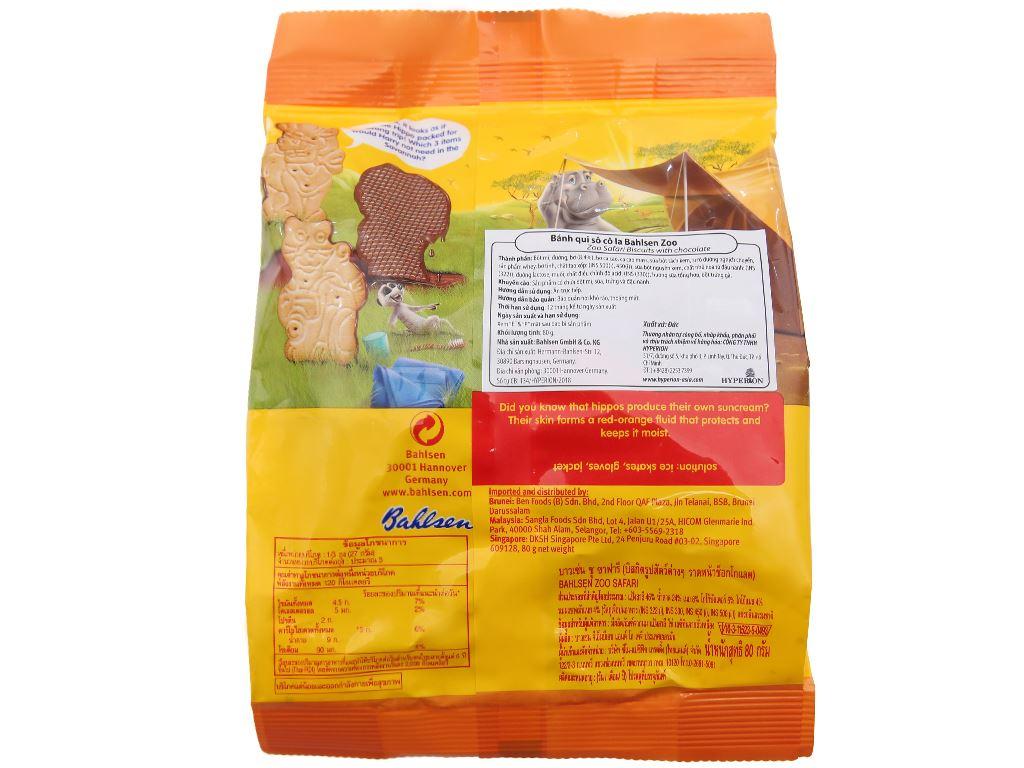 Bánh quy socola Bahlsen Zoo gói 80g 2