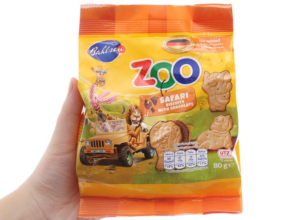 Bánh quy socola Bahlsen Zoo gói 80g 3