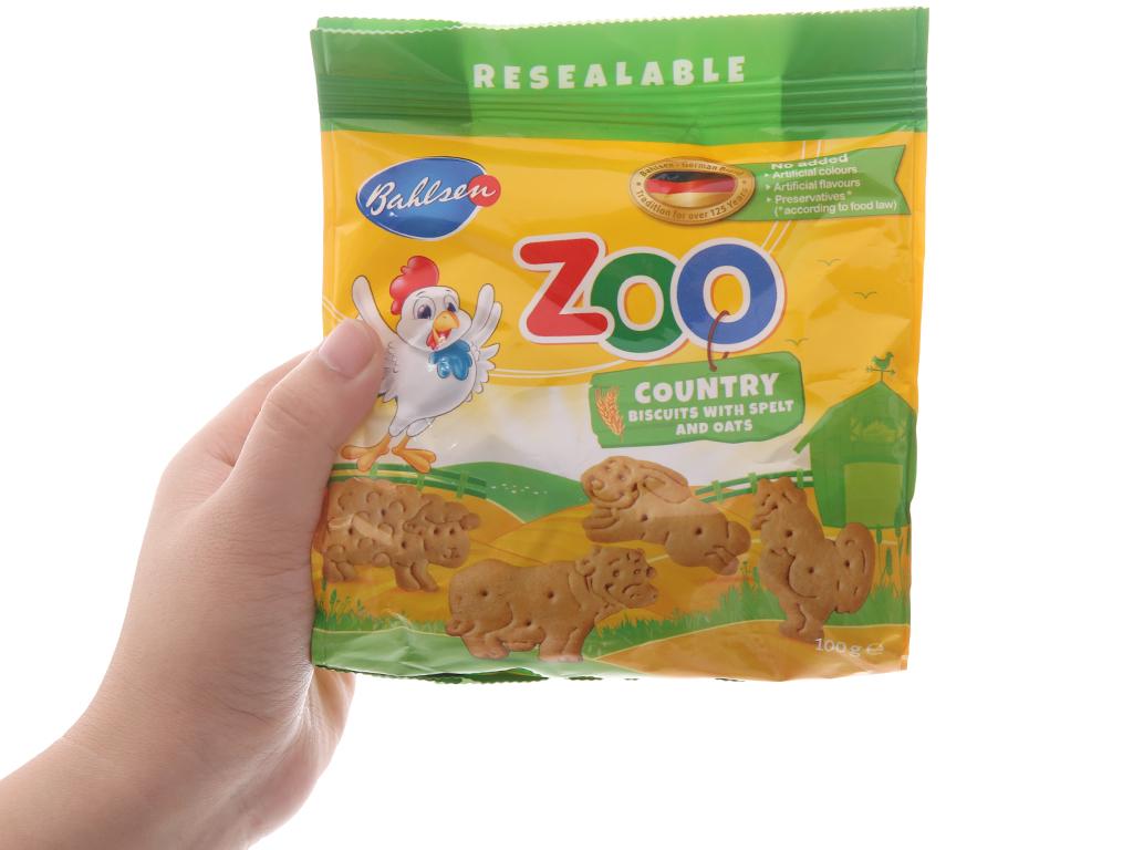 Bánh quy hình thú lúa mì và yến mạch Bahlsen Zoo gói 100g 5
