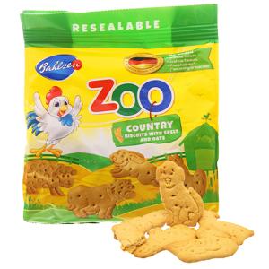 Bánh quy hình thú lúa mì và yến mạch Bahlsen Zoo gói 100g