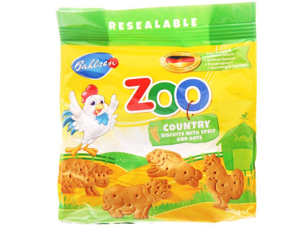 Bánh quy lúa mì và yến mạch hình thú Bahlsen Zoo gói 100g 1