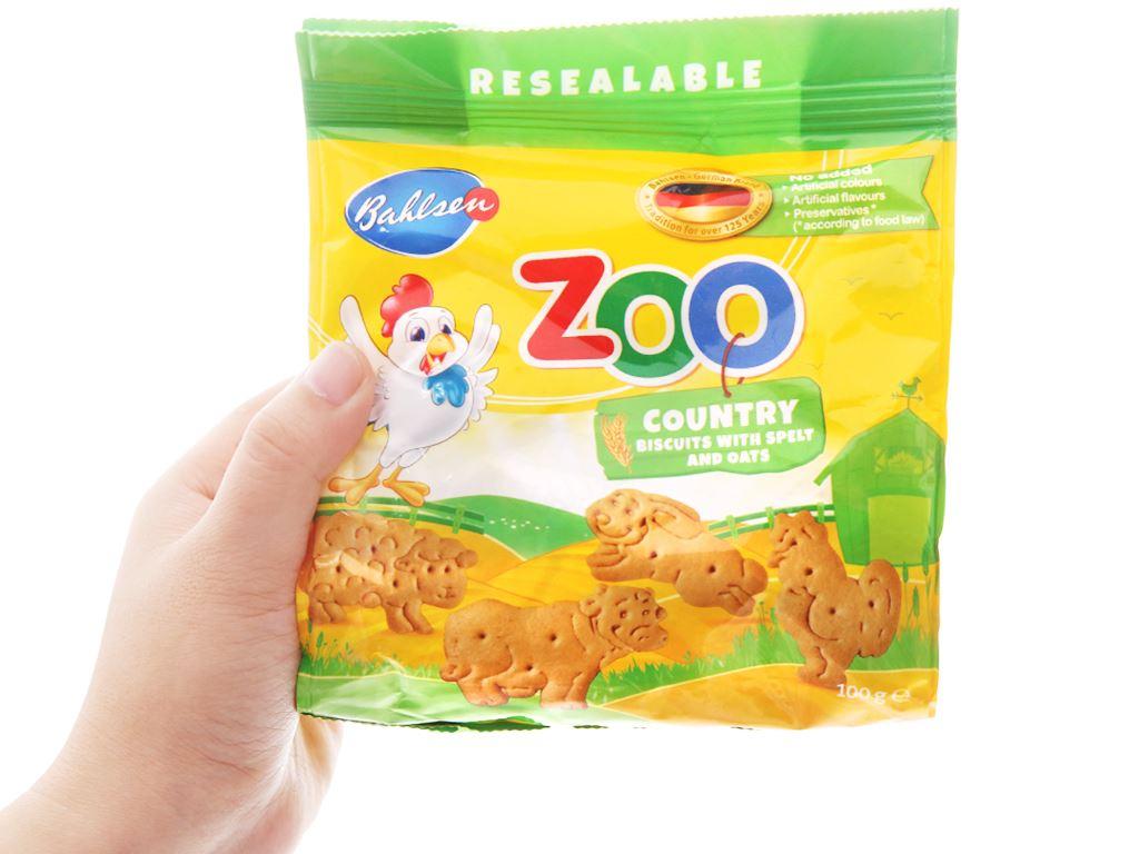 Bánh quy lúa mì và yến mạch hình thú Bahlsen Zoo gói 100g 3