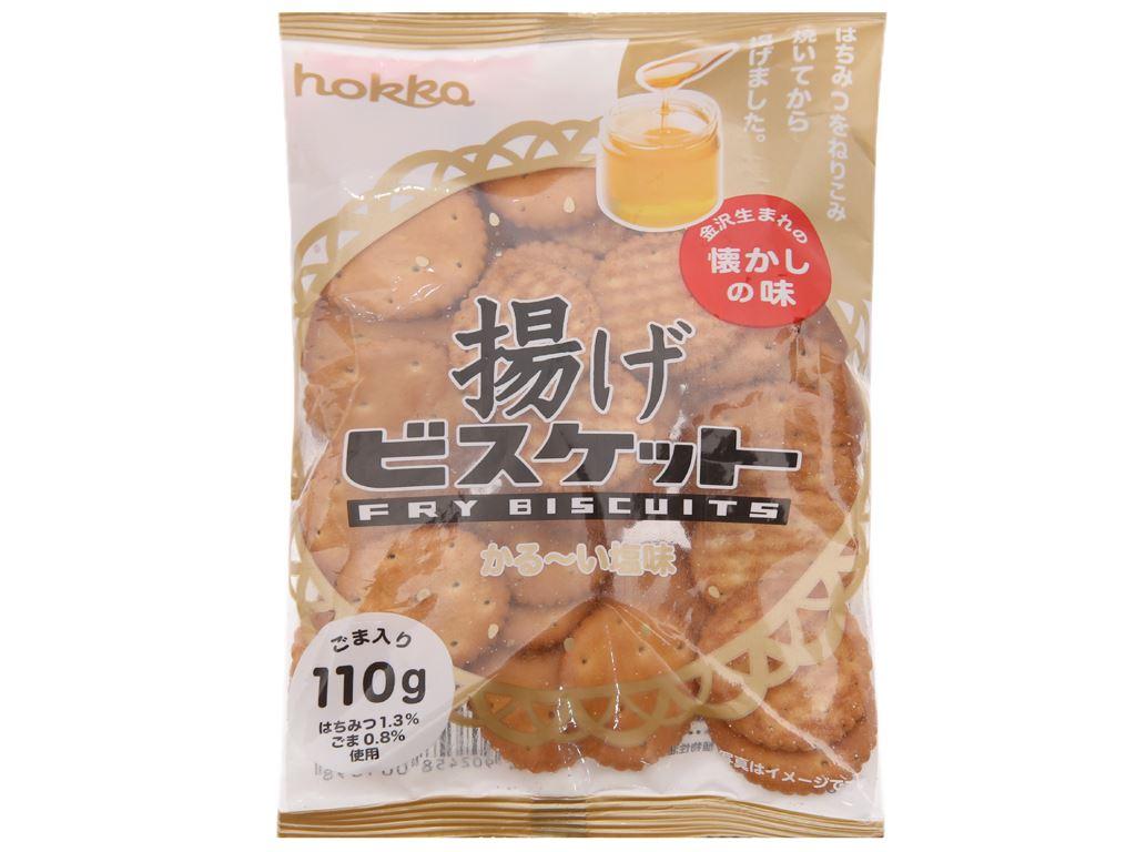 Bánh quy mặn mè mật ong Hokka gói 110g 2