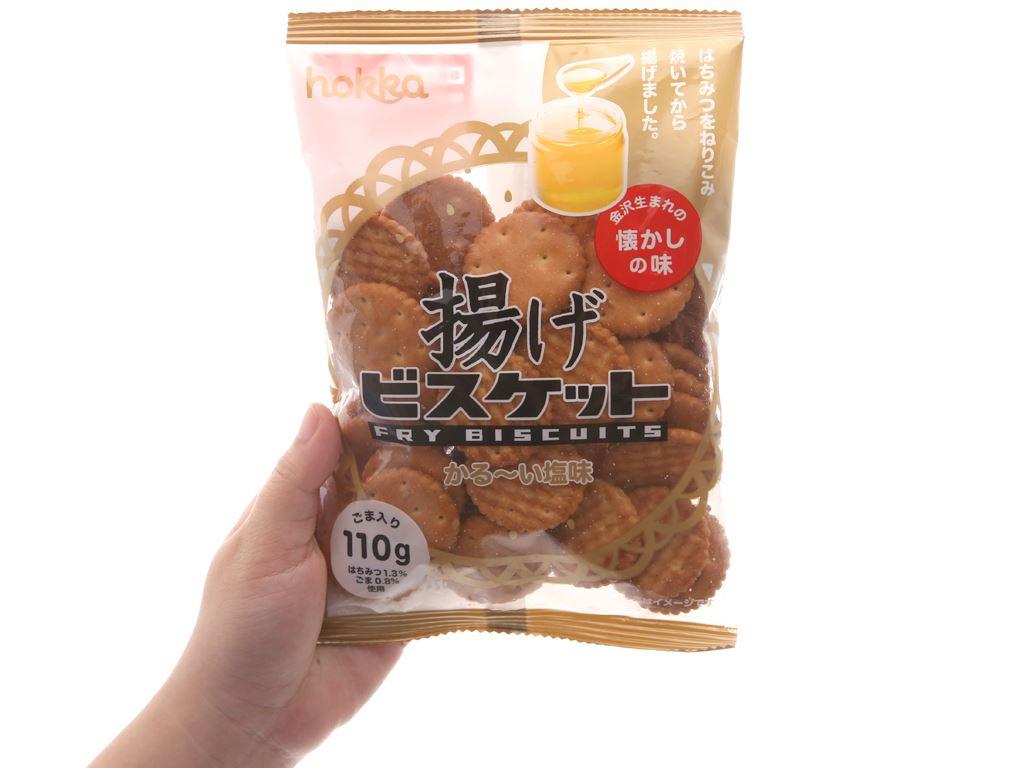 Bánh quy mặn mè mật ong Hokka Fry gói 110g 5