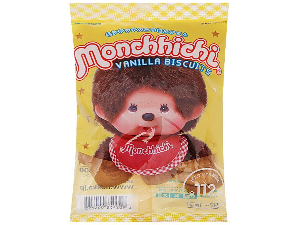 Bánh quy hương vani Hokka Monchhichi gói 75g 2