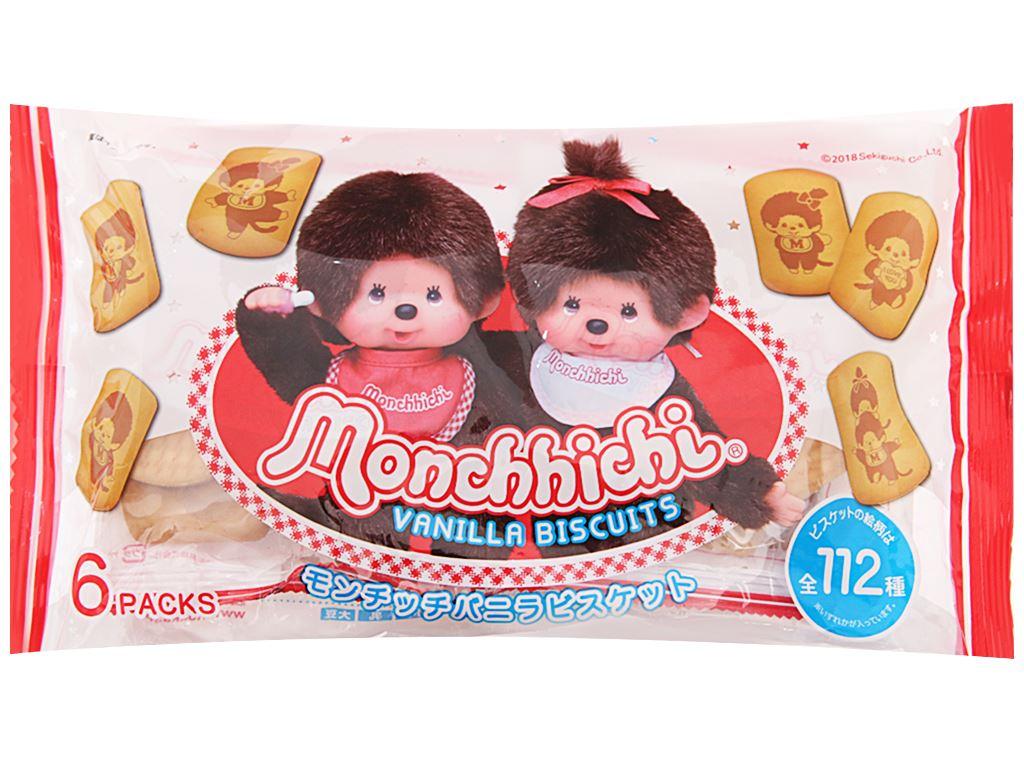 Bánh quy hương vani Hokka Monchhichi gói 168g 2