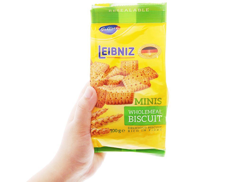 Bánh quy ngũ cốc nguyên hạt Minis Leibniz Bahlsen gói 100g 3