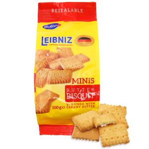 Bánh quy bơ Bahlsen Leibniz Minis gói 100g