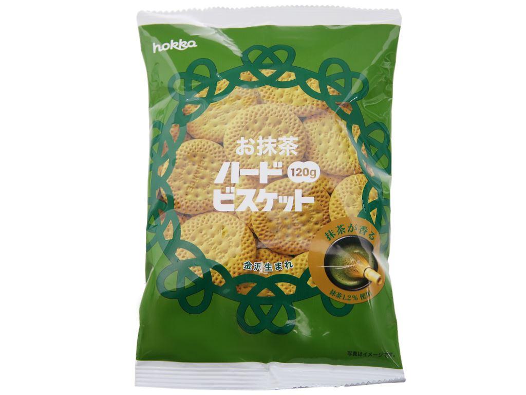 Bánh quy trà xanh Hokka gói 120g 2