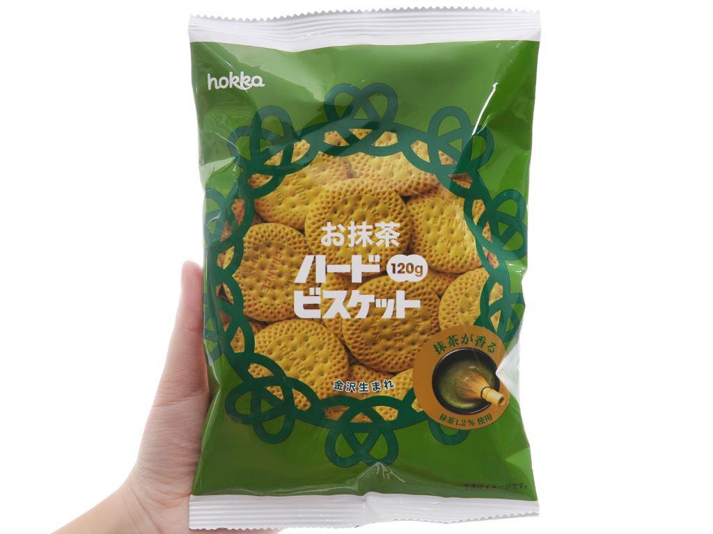 Bánh quy trà xanh Hokka gói 120g 5