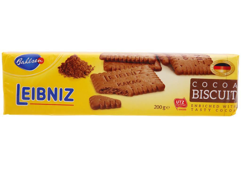 Bánh quy ca cao Bahlsen Leibniz gói 200g 2