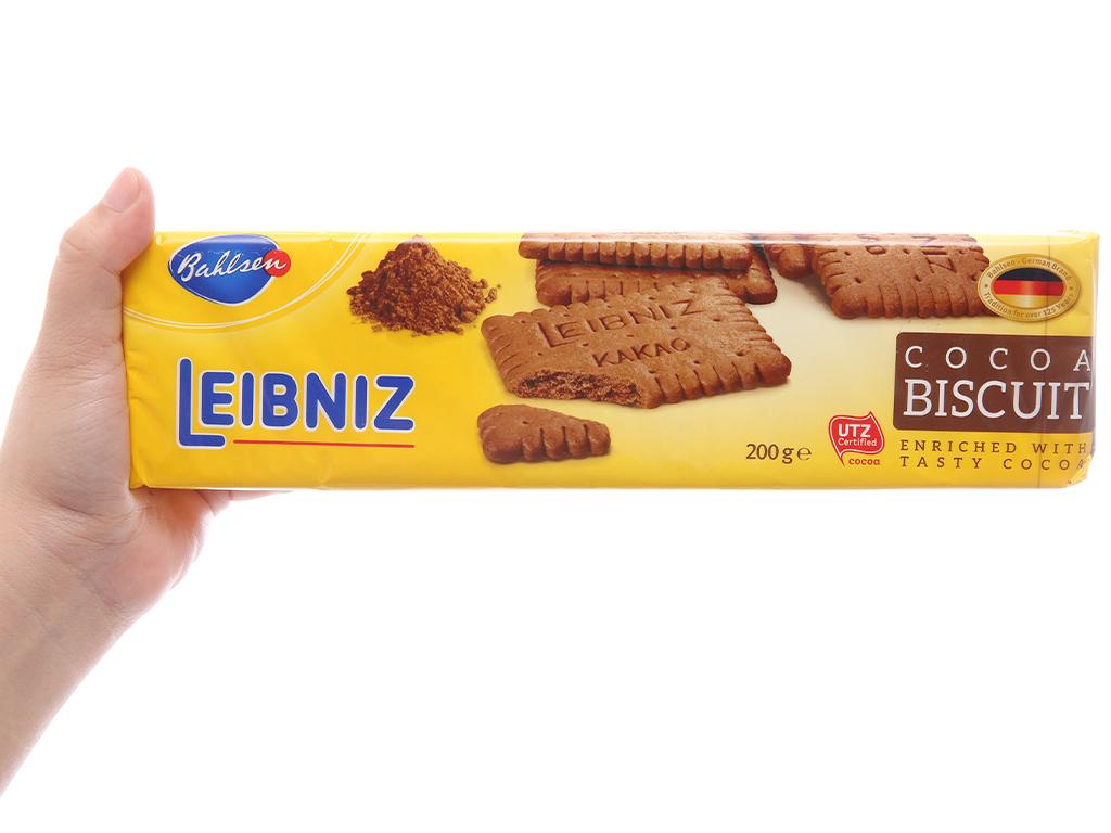 Bánh quy ca cao Bahlsen Leibniz gói 200g 5