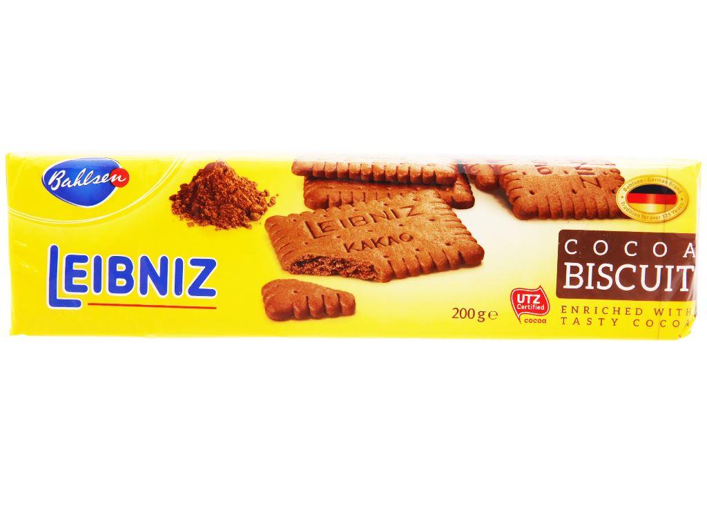 Bánh quy cacao Bahlsen Leibniz gói 200g 2