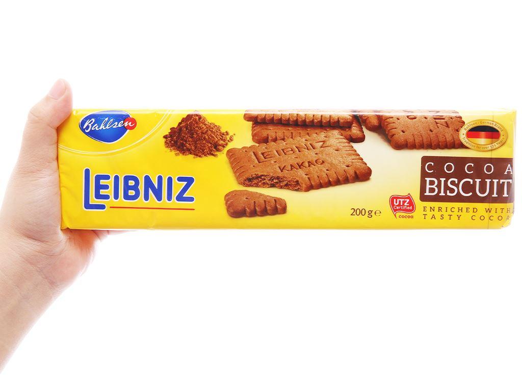 Bánh quy cacao Bahlsen Leibniz gói 200g 4