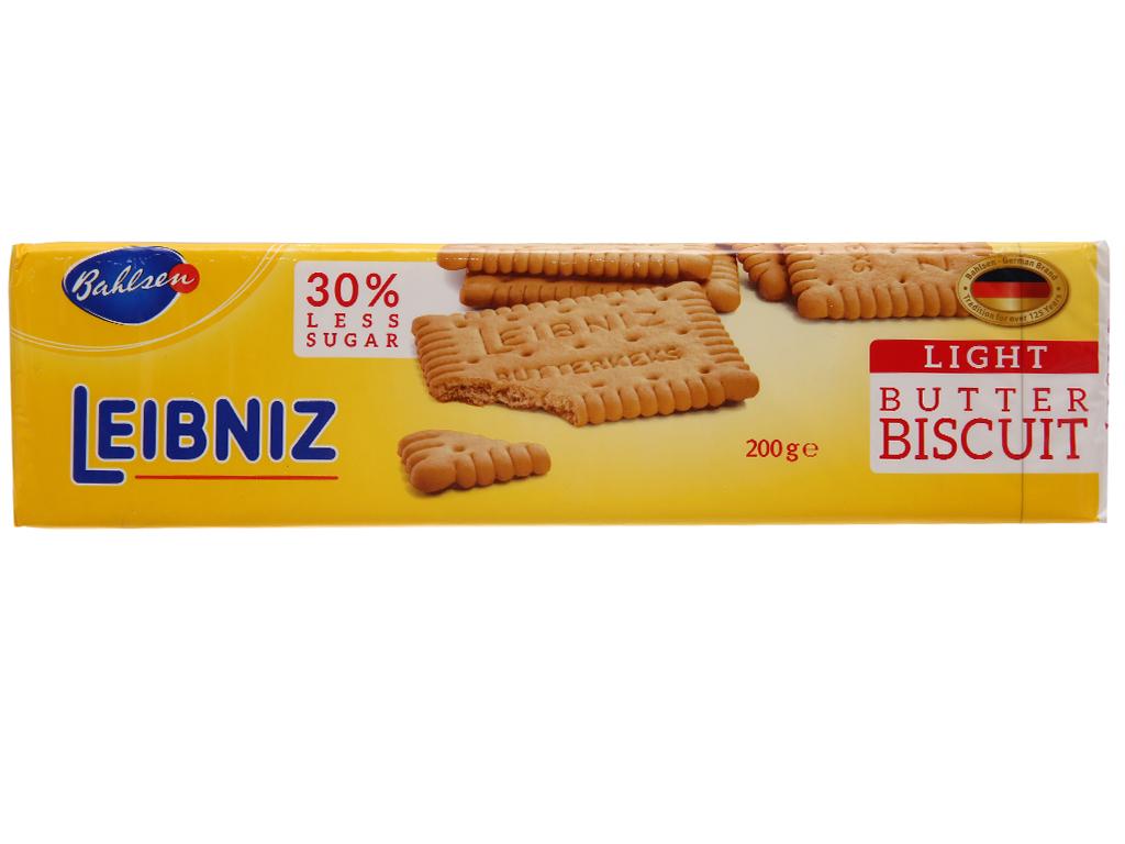 Bánh quy bơ ít đường Bahlsen Leibniz hộp 200g 2