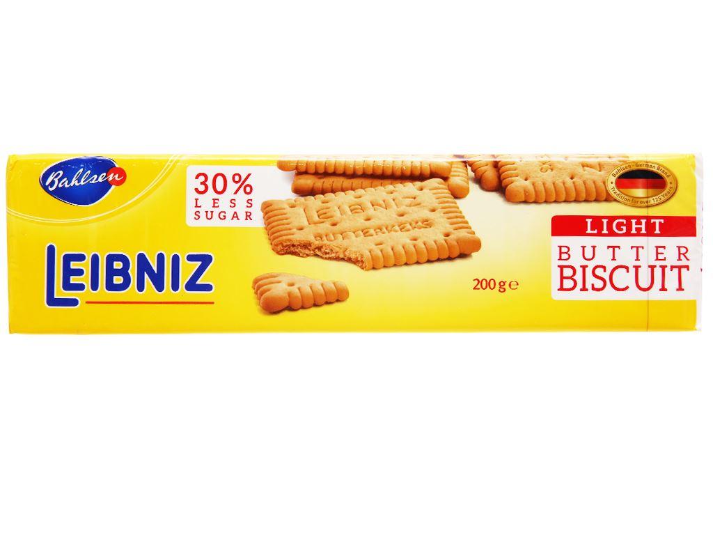 Bánh quy bơ ít đường Bahlsen Leibniz gói 200g 1