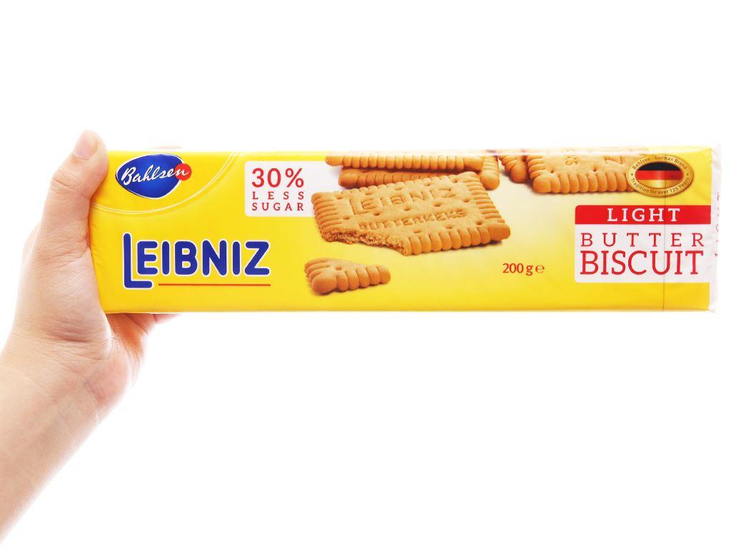 Bánh quy bơ ít đường Bahlsen Leibniz gói 200g 3