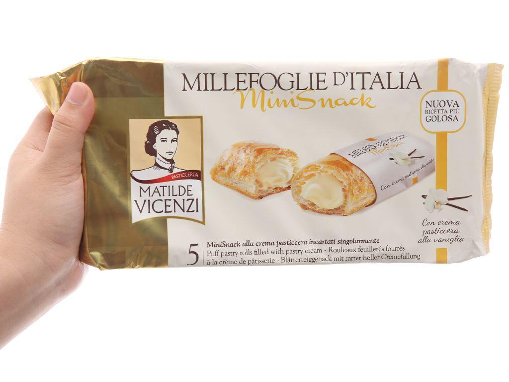 Bánh Puff Pastry cuộn kem Matilde Vicenzi MiniSnack gói 125g 5