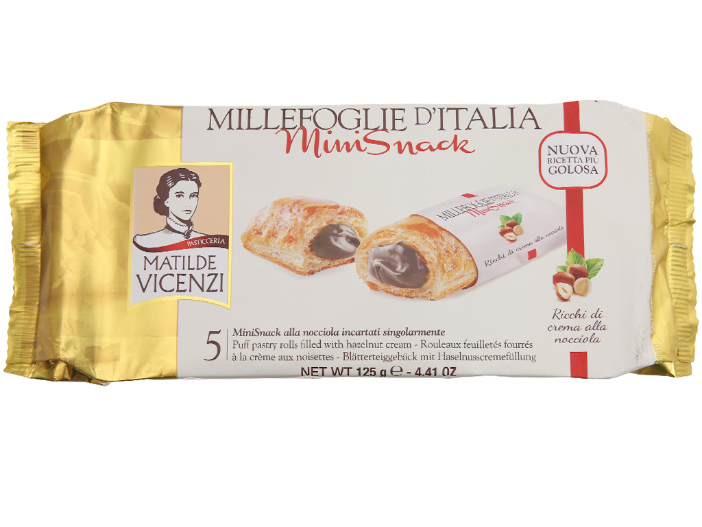 Bánh Puff Pastry Cuộn kem hạt dẻ MiniSnack Matilde Vicenzi gói 125g 2