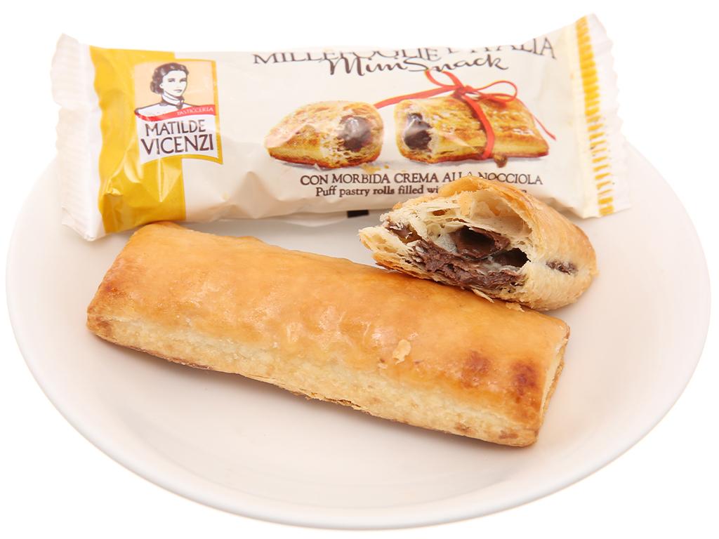 Bánh Puff Pastry Cuộn kem hạt dẻ MiniSnack Matilde Vicenzi gói 125g 4