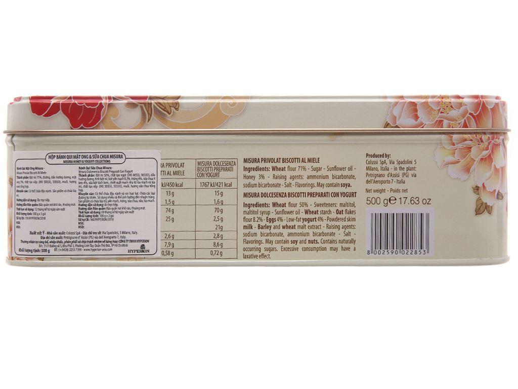 Bánh quy sữa chua và mật ong Misura hộp 500g 2
