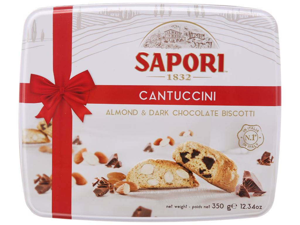Bánh quy hạnh nhân và socola Sapori hộp 350g 2