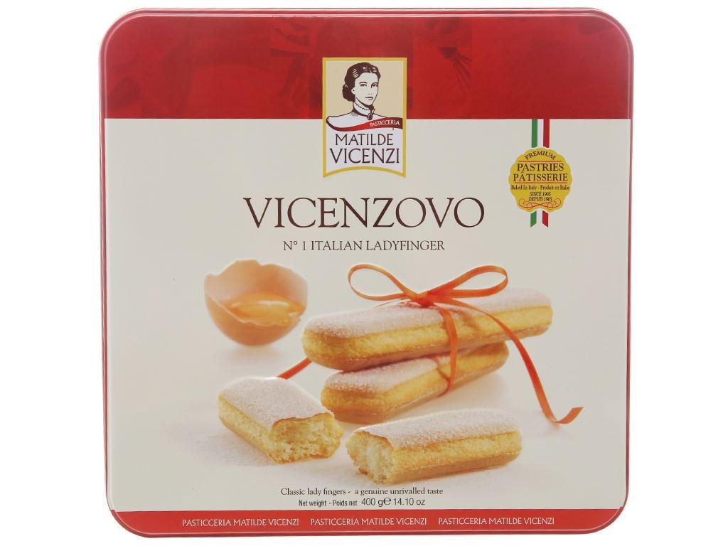 Bánh Ladyfingers nguyên gốc Ý Vicenzovo Matilde Vicenzi hộp 400g 2