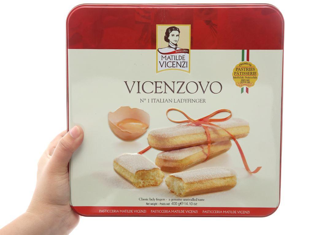 Bánh Ladyfingers nguyên gốc Ý Vicenzovo Matilde Vicenzi hộp 400g 4