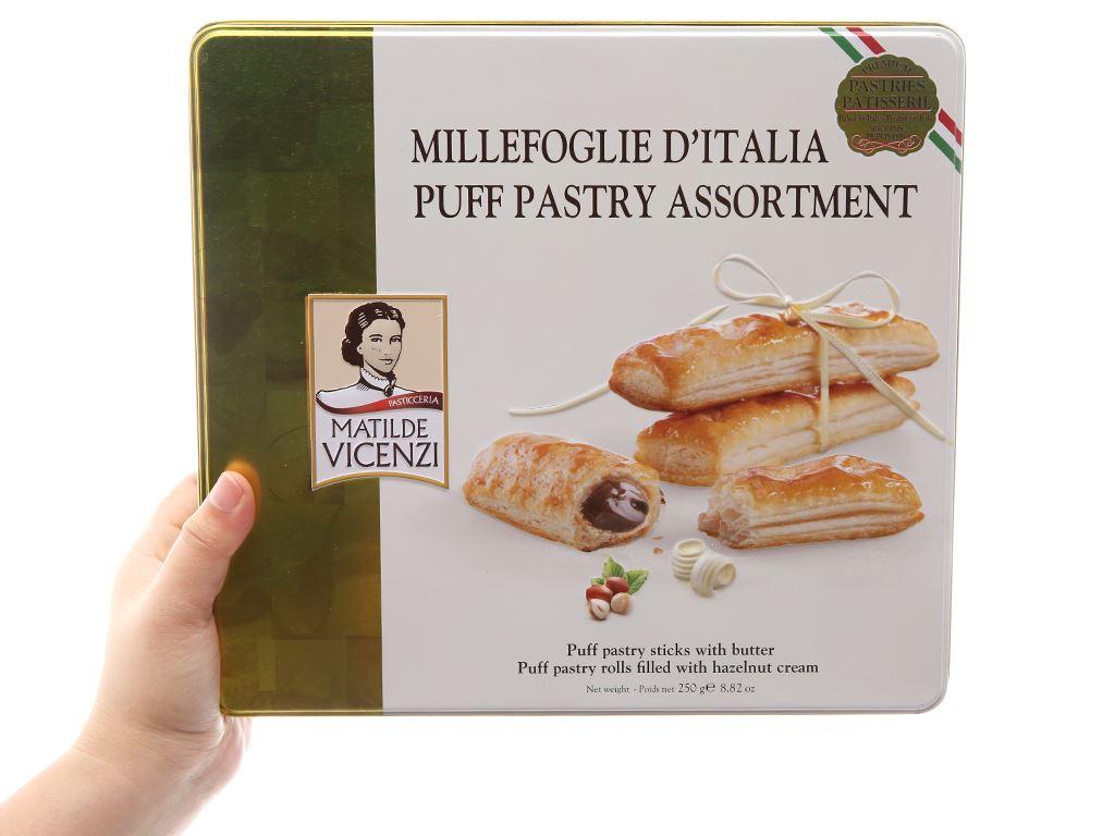 Bánh quy Cuộn kem hạt dẻ Matilde Vicenzi Millefoglie D'italia MiniSnack 250g 5