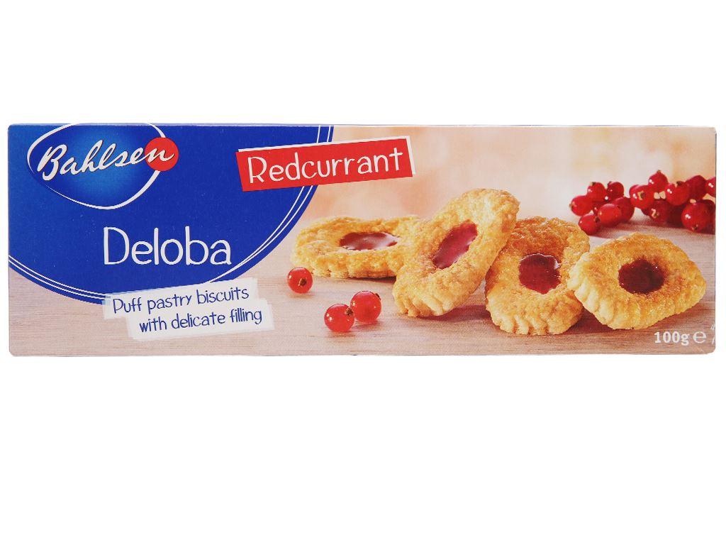 Bánh quy nhân lý chua đỏ Bahlsen Deloba hộp 100g 1