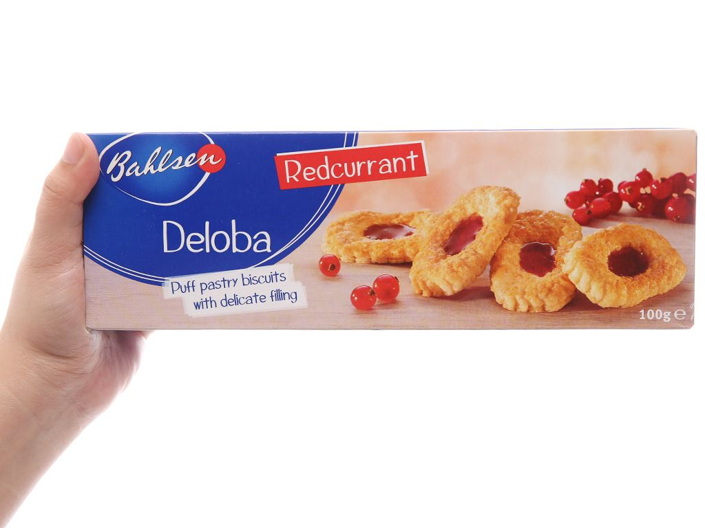 Bánh quy nhân lý chua đỏ Bahlsen Deloba hộp 100g 4
