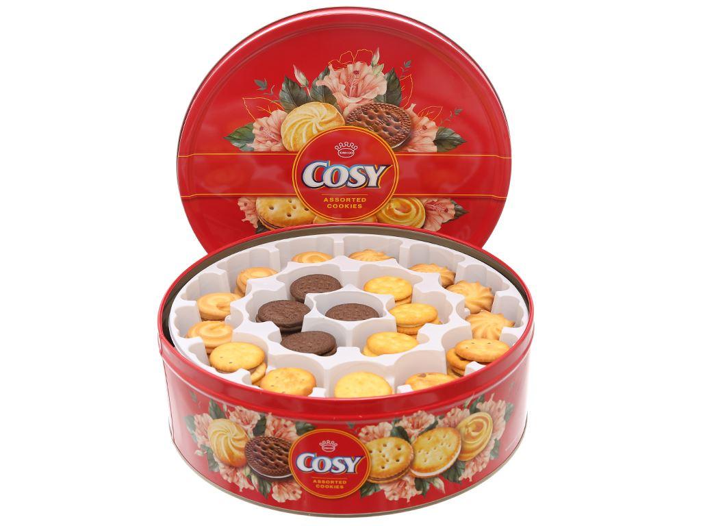 Bánh quy kẹp kem thập cẩm Cosy hộp thiếc 840g 3