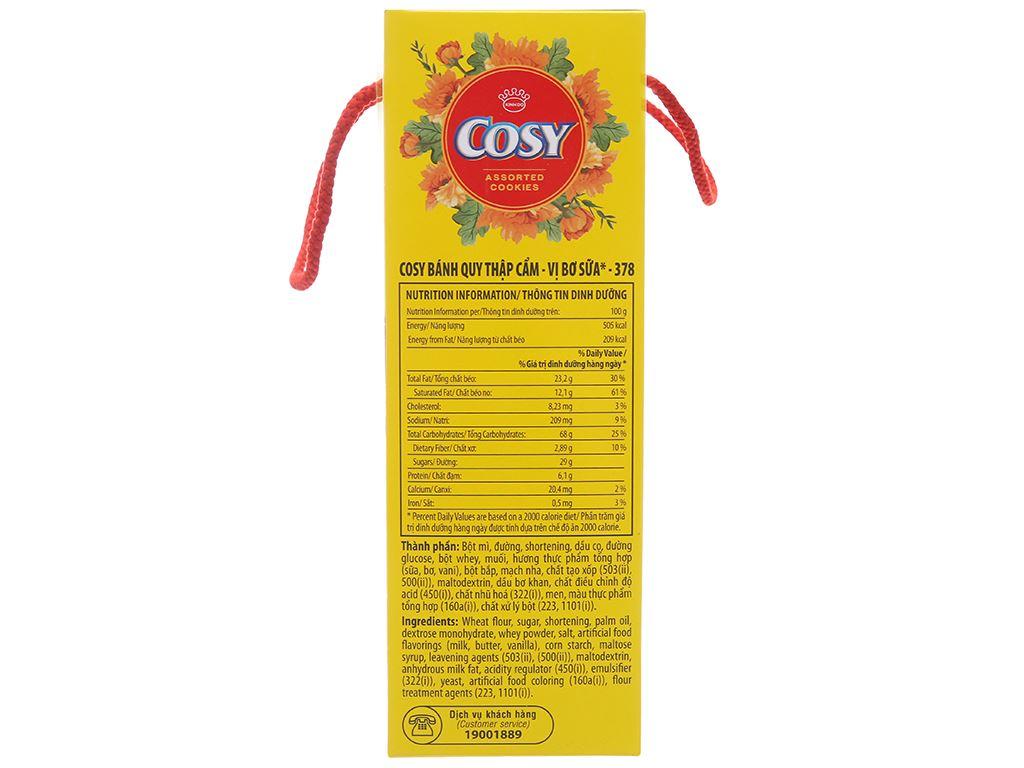 Bánh quy vị bơ sữa Cosy hộp 378g 3