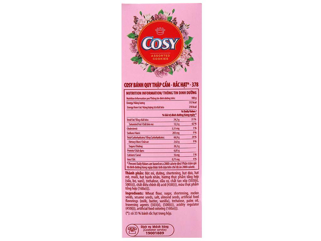 Bánh quy Cosy thập cẩm rắc hạt 378g 3