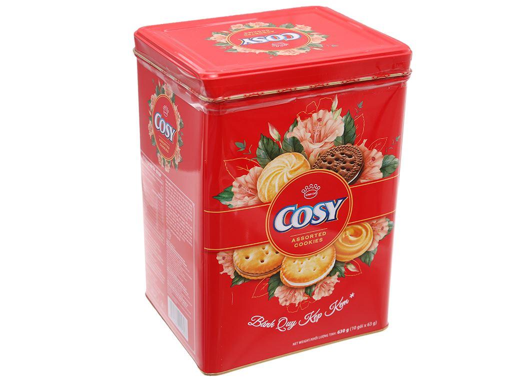 Bánh quy thập cẩm kẹp kem Cosy hộp 630g 2