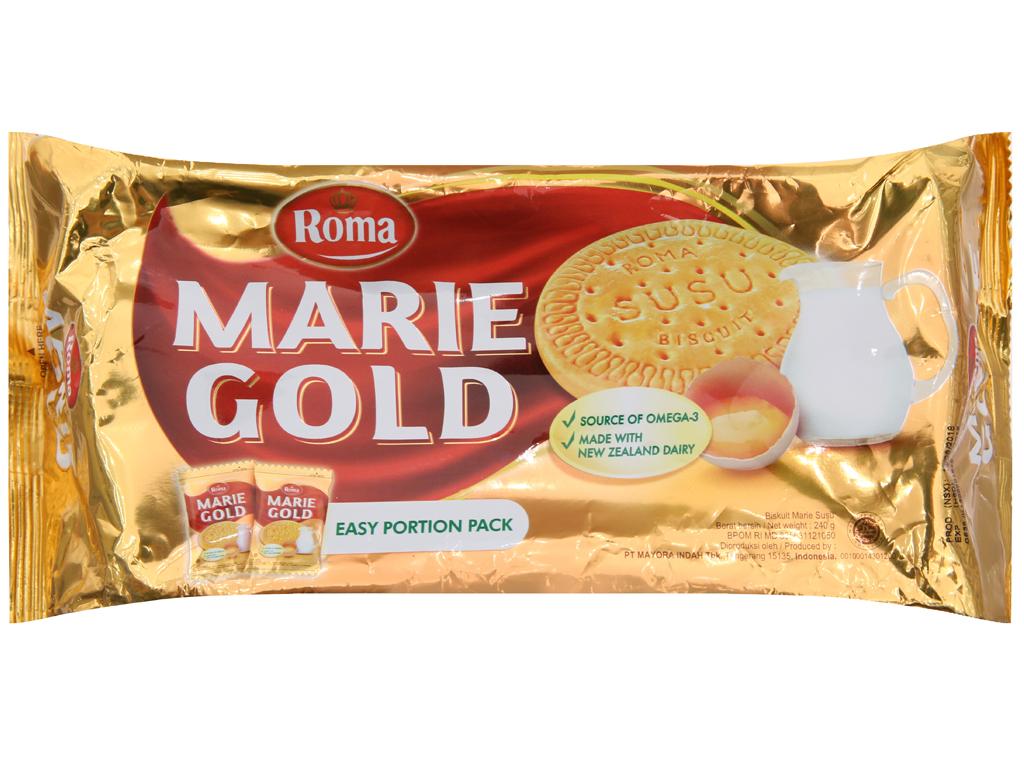 Bánh quy sữa Roma Marie Gold gói 240g 2