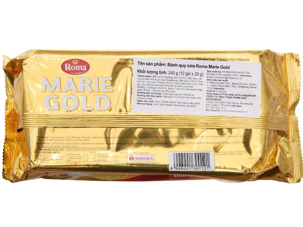 Bánh quy sữa Roma Marie Gold gói 240g 3