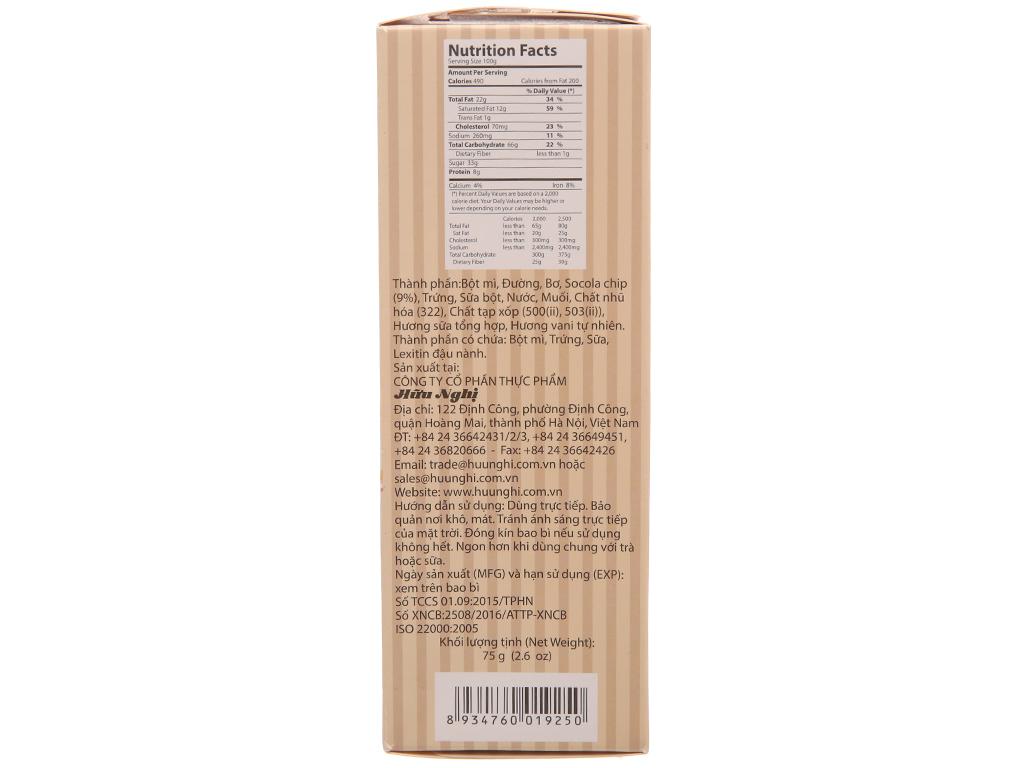 Bánh quy socola chip Tipo hộp 75g 3