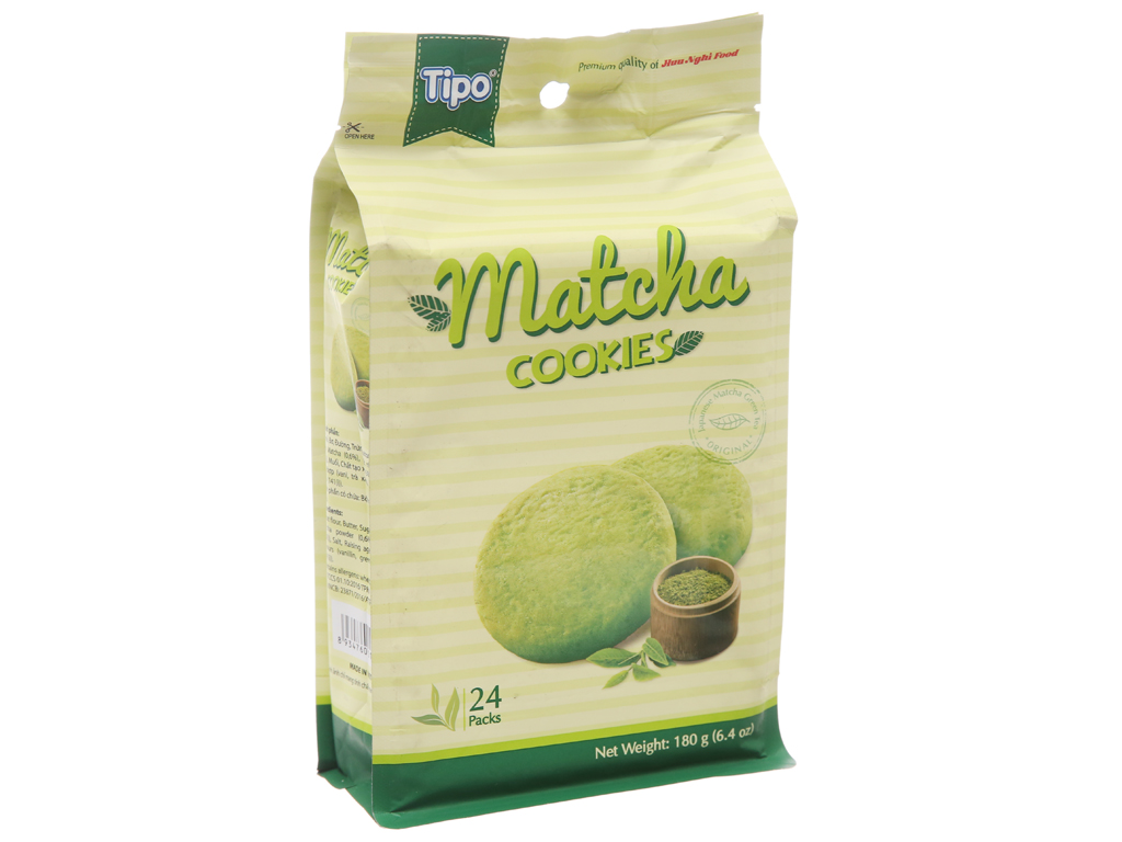 Bánh quy trà xanh Tipo gói 180g 1