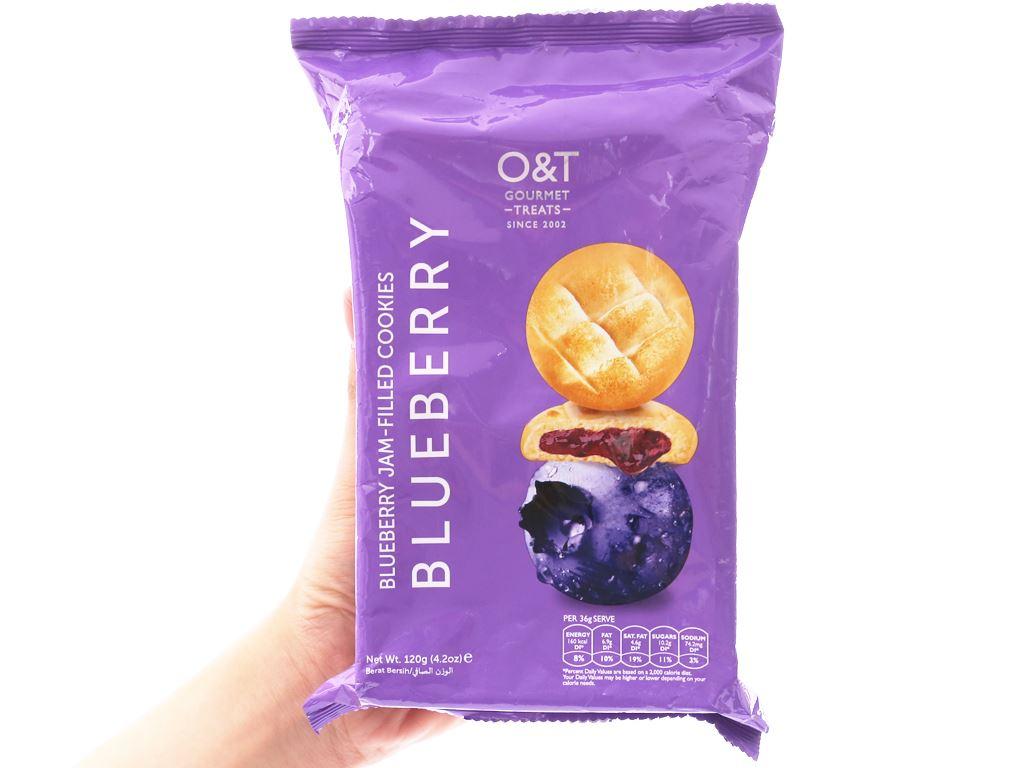 Bánh quy nhân mứt việt quất O&T gói 120g 3