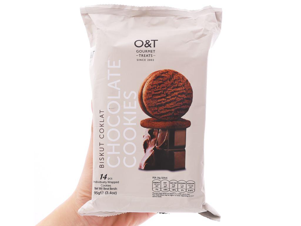 Bánh quy socola O&T gói 95g (14 bánh) 3